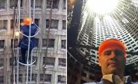 Фото: Кличко в деловом костюме забрался в монтажную шахту ради селфи