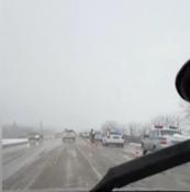 Опубликован момент смертельного ДТП с КамАЗом на трассе в Адыгее