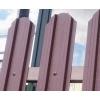 Металлический штакетник.  Забор из штакетника.