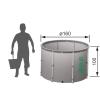 Новая складная ёмкость (бак/бочка)  для воды EKUD 2000 литров с крышкой (h=100,  d=160)
